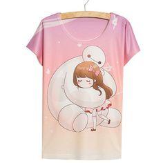 Totoro shirt New thin loose women's cartoon short-sleeve 3d T-shirt print Neighbor Totoro tee shirt camiseta cute womens tops
