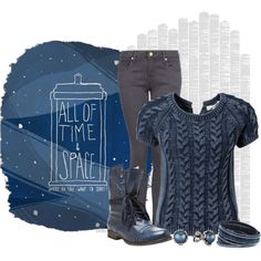 """""""#114: All of Space and Time"""" by eiluned on Polyvore"""