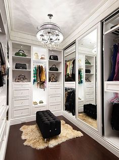 Get to know the best of luxury closet design in a selection curated by Boca do Lobo to inspire interior designers looking to finish their projects. Discover unique walk-in closet setups by the best furniture makers out there #luxurywalkincloset #luxurycloset