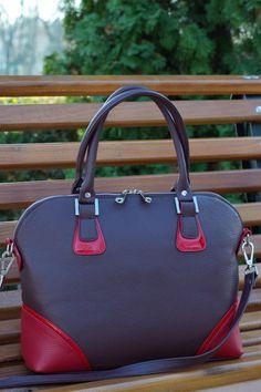 LEATHER handbag Leather Shoulder BagLarge Leather by CORYSBAGS