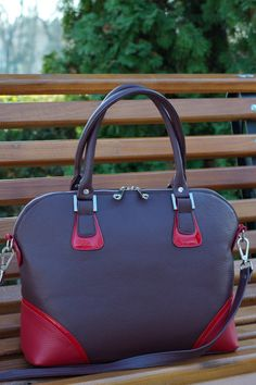 LEATHER handbag Leather Shoulder BagLarge Leather by CORYSBAGS