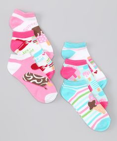 Nothing says MOTIVATION (to get dressed) like Pink Ice Cream (Socks Set by Vitamins Baby) #zulily #fall