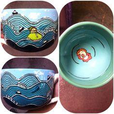 Jumbo Ponyo Mug Check out my etsy! I make a lot of fandom pieces and I do commission work :) https://www.etsy.com/shop/tortugapalooza