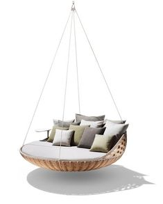 The Swingrest - around 20K from Dedon. I'm thinking you and your handyman could ikeahack something similar for quite a bit less.