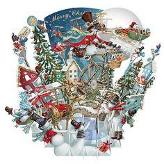 3D Pop Up Christmas Card - Snowmen White Christmas - INPCreative - 1