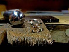 "Ring ""Fortuna"" silver, gold , emeralds"