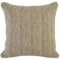 The Villa Home Linen Heirloom Throw Pillow will make an elegant accent for your bed, chair, couch, and more. In 100% linen with a feather fill, the pillow features a beautifully textured face to complement your décor.