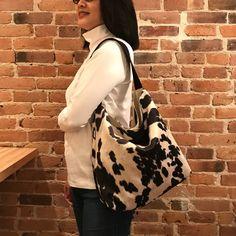 Cowhide Large Shoulder Purse Cowhide Fabric, Cowhide Purse, Cowhide Leather, Fashion Bags, Women's Fashion, Shoulder Purse, Hobo Bag, Mother Day Gifts, Purses