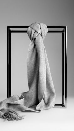 Luxurious grey scarf. I'm in love with this Equestrian Knight Cashmere Scarf | Burberry