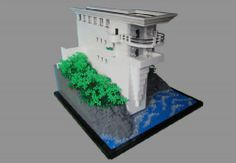 2014 MocAthalon: Frank Lloyd Wright - Seacliff: A LEGO® creation by KW Vauban : MOCpages.com