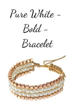 The bracelet Pure White is the perfect accessory for wedding, graduation or other special occasions. Delicate white pearls assembled in a tasteful jewelry that signals sophisticated finesse. Bangles, Bracelets, Pure White, Period, Special Occasion, Graduation, Fragrance, Delicate, Delivery