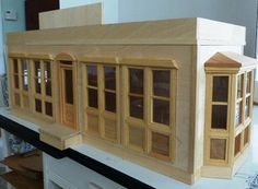 Nicely done ready to be finished 1:12 scale trolley car diner