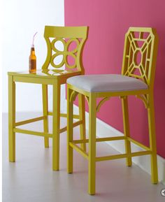 mismatched chairs painted the same color