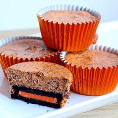 mini halloween oreo cheesecakes