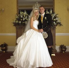 Michelle Marsh wearing a Hollywood Dreams Wedding Dress on her Wedding Day