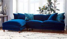 Galloway Chaise Sofa - Left in Varese Denim