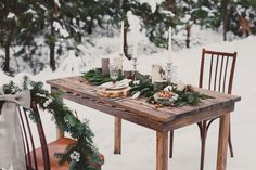 winter love story table decor