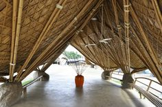 The Panyaden School in Thailand is made from local bamboo and rammed earth and teaches its students about sustainability. 24H Architects, Netherlands.
