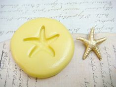 STARFISH  - Flexible Silicone Mold - Push Mold, Jewelry Mold, Polymer Clay Mold, Resin Mold, Craft Mold, Food Mold, PMC Mold