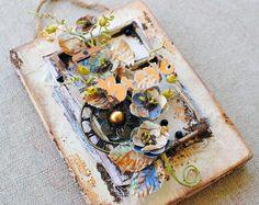 Flower Vine Plaque by Delaina Burns