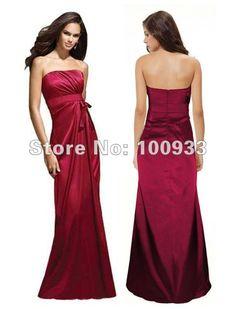 2014 top selling bridesmaid dress of elastic satin,in stock US $30.55