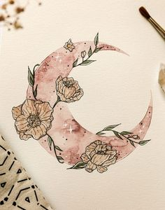 Originale douceur par Wild Amanda - - -Peinture Originale douceur par Wild Amanda - - - Drawing art girl paintings 62 Ideas Serene Night Sky Starry and Cloudy Moon Painting Acrylic Art Inspo, Kunst Inspo, Inspiration Art, Drawing Sketches, Art Drawings, Unique Drawings, Cool Drawing Designs, Flower Design Drawing, Flower Drawing Tutorials