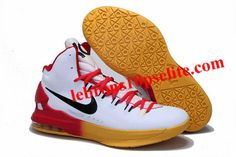 on sale 4ee40 af925 Nike Zoom KD V White Red Yellow Gradient Nike Lebron, Lebron 11, Lebron