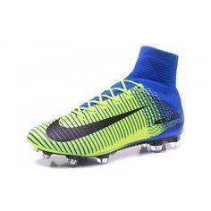 on sale 40f33 18c16 Ny Adidas Messi Fotballsko - Billig 2017 Nike Mercurial Superfly V CR7  Grønn Blå Herre Fotballsko