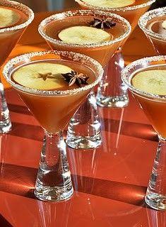 Apple cider martinis!