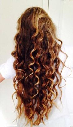 New Long Light Brown Curly Hair with Highlights