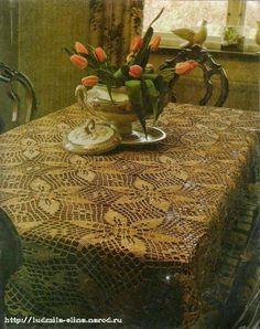 Hobby lavori femminili - ricamo - uncinetto - maglia: centro tavolo