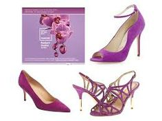 shoes in radiant orchid