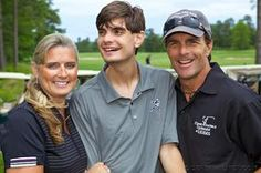 Laura Flutie, Doug Flutie Jr. and Doug Flutie Sr. at the Flutie Foundation Golf Tour event. The foundation is in the running for a Robert Wood Johnson Foundation award.