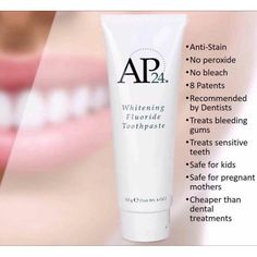 AP 24 Anti-Plaque Fluoride Toothpaste uses a safe, gentle form of fluoride to remove plaque and protect against tooth decay. Ap 24 Whitening Toothpaste, Whitening Fluoride Toothpaste, Nu Skin, Feminine Wash, Stained Teeth, Healthy Skin Care, Beauty Ideas, Beauty Secrets, Diy Beauty