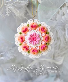 Handcrafted Polymer Clay Ornament by MyJoyfulMoments on Etsy.