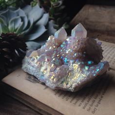 Large Rare Angel Aura Spirit Quartz Cluster-Someday my sweet prince....