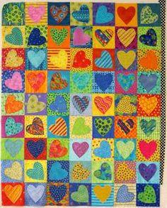 Hearts in squares