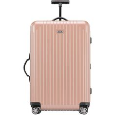 """Rimowa North America Salsa Air Rose Pearl 26"""" Multiwheel ($545) ❤ liked on Polyvore featuring bags, luggage and pearl rose"""