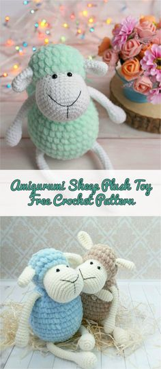 Amigurumi Sheep Plush Toy Pattern #crochetpattern #amigurumitoy #crochetlove
