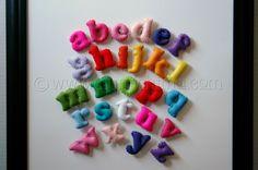 handsewn felt alphabet set & it's magnetic
