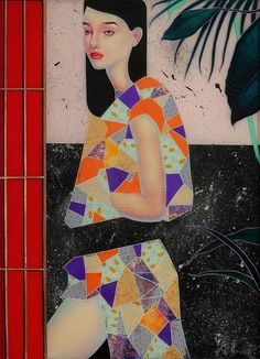 Lauren Brevner's Eclectic Japanese Collage Paintings of Women | Hi-Fructose Magazine