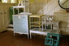 Shabby Chic Furniture on the CHEAP! ~ I'm A Lazy Mom....how to make chalk paint