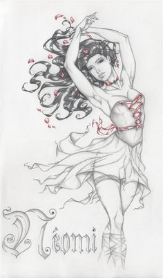 Neomi Laress, a sexy little ballerina from Kresley Cole's Immortals After Dark series. Colouring Pages, Adult Coloring Pages, Coloring Books, Underworld Characters, Immortals After Dark, Kresley Cole, Novel Characters, Black Dagger Brotherhood, Legends And Myths