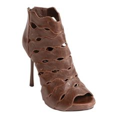 Adi Designs Turn Stiletto Heels Womens Brown Leather - ONLY $59.95