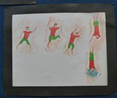 The Olympics  Working with shape and movement  Mixed Media Wax crayon rubbings, oil pastel & pencil Year 6