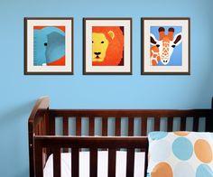 jungle nursery decor baby nursery art prints safari theme nursery safari prints blue brown orange colors set of 3 prints by wallfry baby nursery cool bee animal rocking horse