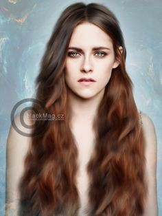 Kristen Stewart digital painting. Full show on www.artwork.blackmag.cz
