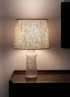 Pair of Sculptural Glass Table Lamps by Timo Sarpaneva 4