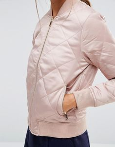Image 3 ofNew Look Quilted Padded Bomber