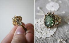 Beautiful vintage green ring!